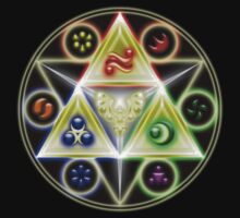 The Legend of Zelda: Ocarina of Time - Spiritual StoneTriforce! Kids Tee