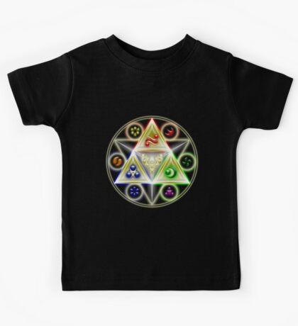 The Legend of Zelda: Ocarina of Time - Spiritual StoneTriforce! Kids Tee
