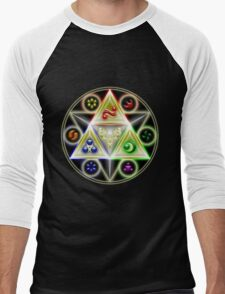 The Legend of Zelda: Ocarina of Time - Spiritual StoneTriforce! Men's Baseball ¾ T-Shirt