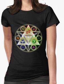 The Legend of Zelda: Ocarina of Time - Spiritual StoneTriforce! Womens Fitted T-Shirt