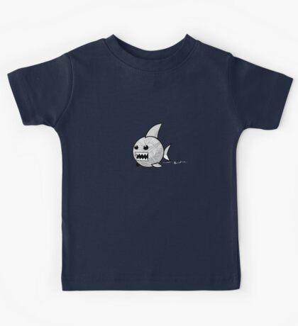 Yarn shark (grey) Kids Tee