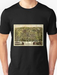 Panoramic Maps City of Taunton Mass 1875 Unisex T-Shirt