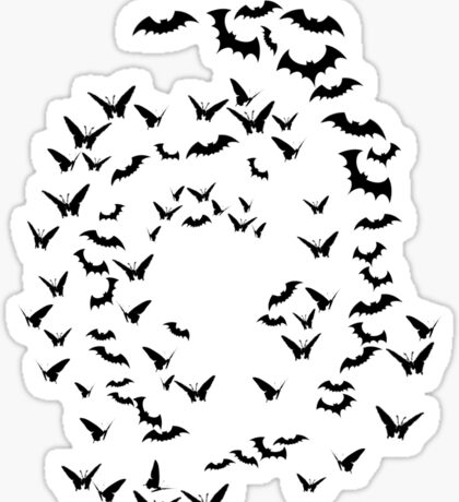bats & butterflies  Sticker