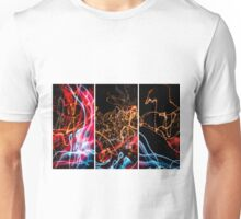 Lightpainting Triptych Wall Art Print Photograph 5 Unisex T-Shirt