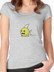 Yarn shark (yellow) Women's Fitted Scoop T-Shirt