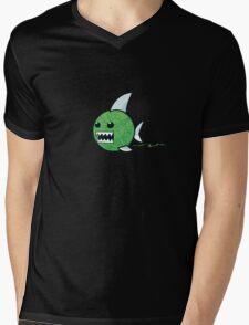 Yarn shark (green) Mens V-Neck T-Shirt