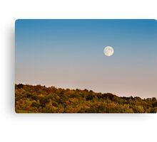 Harvest Moon Landscape Canvas Print