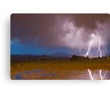 Lightning Striking Longs Peak Foothills 8 Canvas Print