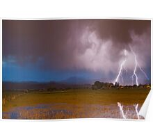 Lightning Striking Longs Peak Foothills 8 Poster