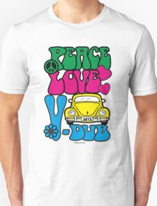 PEACE LOVE V-DUB - BEETLE T-Shirt