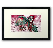 Zombie Run!! Framed Print
