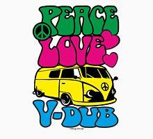 PEACE LOVE V-DUB - KOMBI Unisex T-Shirt