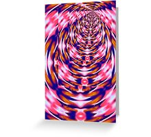 Pink Vortex - greeting card Greeting Card