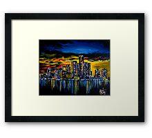 Detroit Skyline Framed Print
