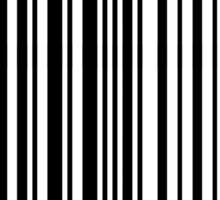 Digital Barcode Stripes Sticker