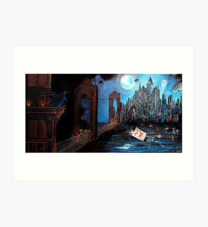 Watching over Gotham Art Print
