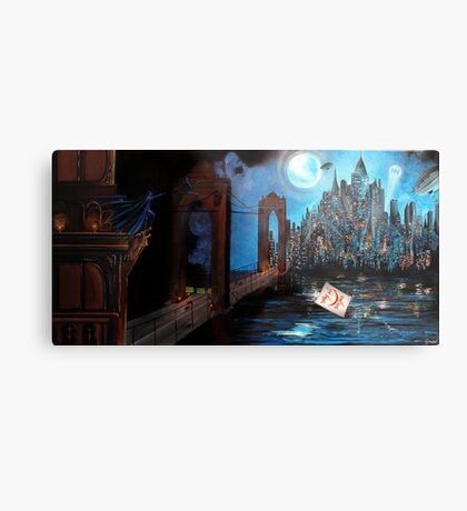 Watching over Gotham Metal Print