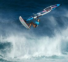 Windsurfing Into The Wind by Bob Christopher