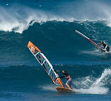 Windsurfing Maui by Bob Christopher