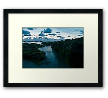 Blue Reflections Framed Print