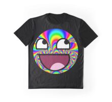 Awesome Funny face - Tumblr Trippy Tie dye effect Graphic T-Shirt