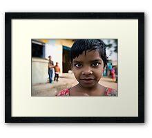 Inquisitive girl Framed Print