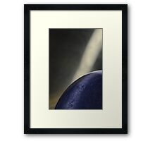 Reverse macro of flash bulb 1 with Ice Light Framed Print