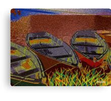 Yard Boat Canvas Print