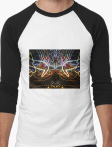 Lightpainting Symmetry Wall Art Print Photograph 1 Men's Baseball ¾ T-Shirt