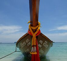 Long Tailed Boat Thailand by Bob Christopher