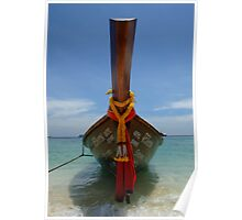 Long Tailed Boat Thailand Poster
