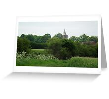 Church Spire in the Country Greeting Card