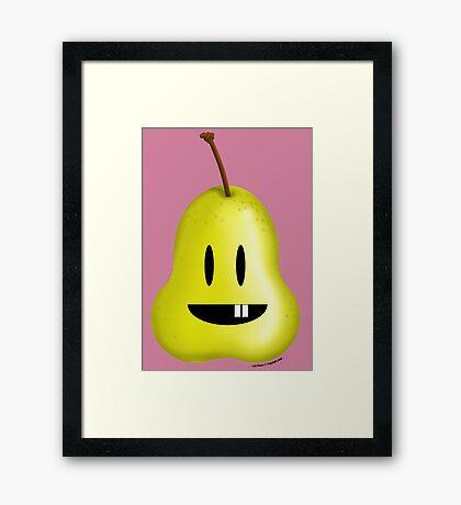 Silly Pear! Framed Print