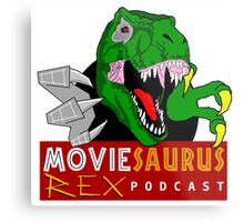 The Moviesaurus Rex Podcast Logo Metal Print