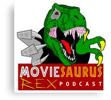 The Moviesaurus Rex Podcast Logo Canvas Print