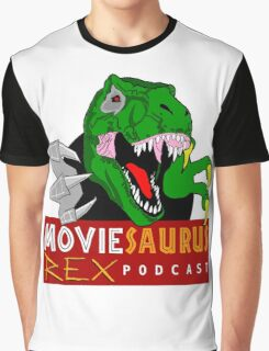 The Moviesaurus Rex Podcast Logo Graphic T-Shirt