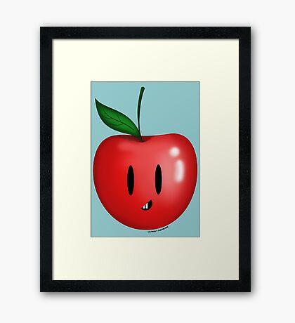 Silly Apple! Framed Print