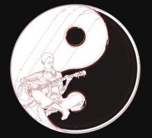 yin yang guitarist  by IanByfordArt