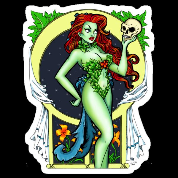 Art Nouveau Poison Ivy by BeccaW