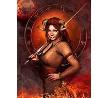 Aries from my Fantasy Zodiac Circle Photographic Print