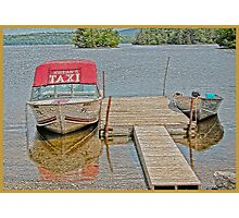 Water Taxi Photographic Print