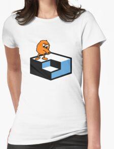 Q*Bert Skateboarding Womens Fitted T-Shirt