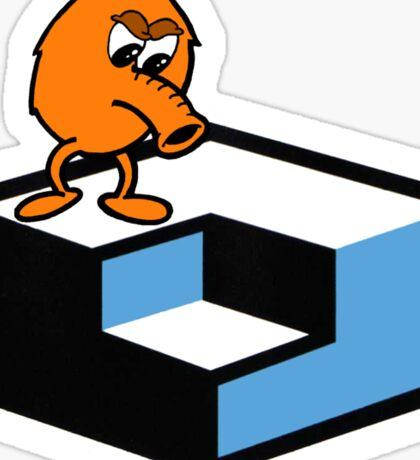 Q*Bert Skateboarding Sticker