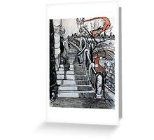 Stairs to Flinders Street (Ascending) Greeting Card