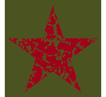 Red Star Vintage Photographic Print