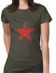 Red Star Vintage Womens Fitted T-Shirt