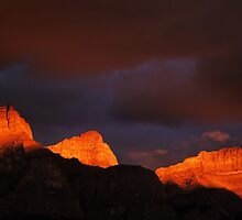 Canadian Rockies Morning Light  by Bob Christopher