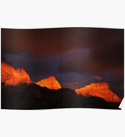 Canadian Rockies Morning Light  Poster