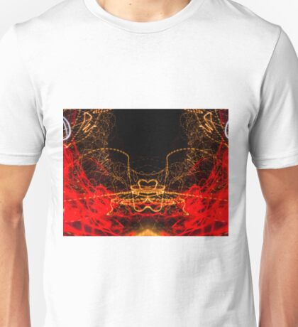 Lightpainting Symmetry Wall Art Print Photograph 2 Unisex T-Shirt