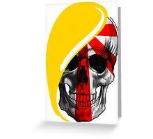 Blond skull! Greeting Card